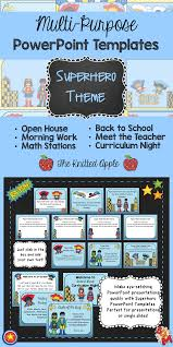 superhero theme powerpoint templates curriculum night meet the