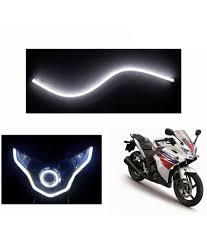 speedwav flexible 30cm bike headlight neon led drl tube white