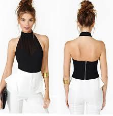 halter neck blouse shoulder backless halter neck chiffon