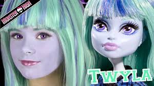 monster high twyla doll costume makeup tutorial for halloween or