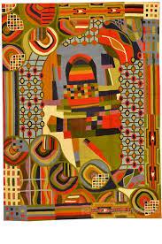 Modern Red Rug by Rug Size Tapestry 5 U0027 X 7 U0027 Archives Kashmir Fine Arts