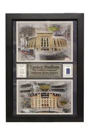 new york yankees sports memorabilia shop the best deals for nov new york yankees yankee stadium game used double photo frame