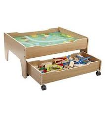 wooden train set table 100 piece wooden train set table with reversible car play table