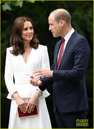 kate middleton u0026 prince william arrive in poland with george