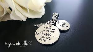 remembrance charms memorial bouquet charm i used to be his angel now he s mine
