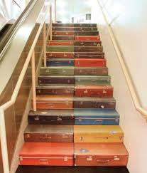 suitcases decorating diy unusual stairs from suitcases 10 diy unique