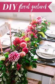 floral garland diy floral garland tutorial modern wedding