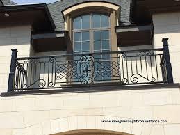iron balconet balcony railing raleigh wrought iron co