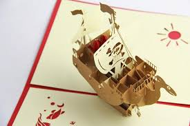 papercraft 3d one piece going merry boat birthday holiday greeting
