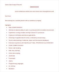 Etl Resume Data Analyst Resume Example 9 Free Word Pdf Documents Download