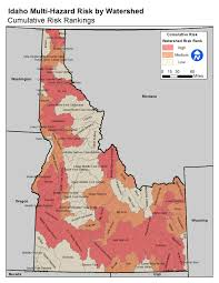 Current Wildfire Map Idaho by Risk Map