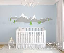 Modern Nursery Wall Decor Snow Mountain Snow Peak Scandinavia Design Wall Decal Sticker For
