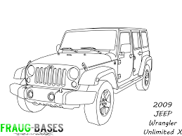 jeep wrangler front drawing 2009 jeep wrangler unlimited x base by fraug bases on deviantart