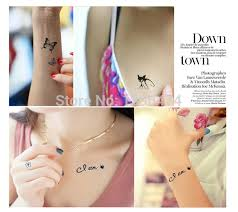 lot 10pcs women disposable transfer tattoos sticker finger tattoo