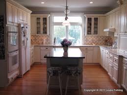painted kitchen backsplash photos everyday artist painted blue white tile backsplash