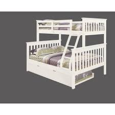 Queen Bed Frame With Twin Trundle by Amazon Com Bunk Bed Twin Over Full Mission Style With Trundle In