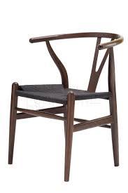 replica hans wegner wishbone chair dark walnut with black cord