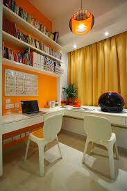 home office ideas orange u003d energy love a little office with an