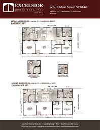 schult modular home floor plans schult main street 5228 84 excelsior homes west inc