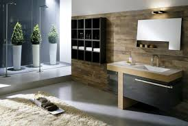 contemporary bathroom ideas grey wooden vanity storage polish