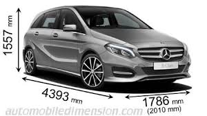 mercedes a class vs b class dimensions of mercedes cars showing length width and height
