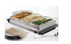 home electric 3 station buffet server warming tray food