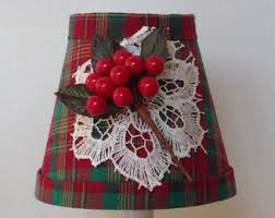 Chandelier Lamp Shades Christmas Lamp Shade Etsy