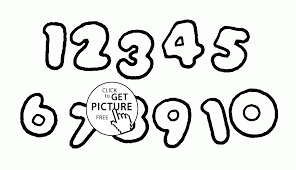 all numbers coloring pages for kids counting numbers printables