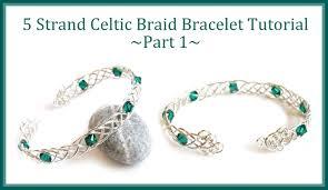 make bracelet beading wire images Jewelry tutorial how to make a celtic weave bracelet 5 strand jpg