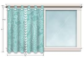 Blue Butterfly Curtains Moda U0027s Half Moon Modern Sewing Room Tab Top Butterfly Curtains