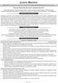 Sample Resume For Information Security Analyst by Senior Network Administrator Resume Sample Resume Samples