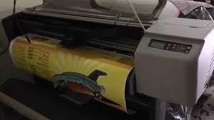 hp designjet 500 matt vinil adhesive printing youtube