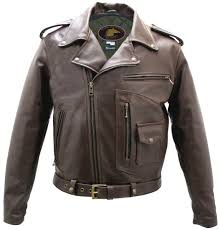 motorcycle clothing brown d pocket horsehide motorcycle jacket by hillside usa leather