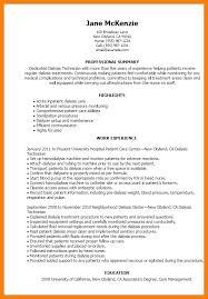 9 patient care technician sample resume address example