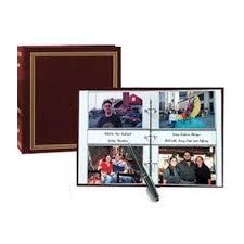 400 photo album 3 ring 2 up slip in pocket navy blue binder album for