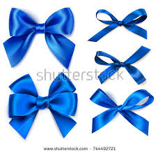 white and blue bows decorative blue bow horizontal ribbon vector stock vector