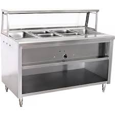 steam table with sneeze guard est72 72 steam table 5 wells electric kitchenall new york