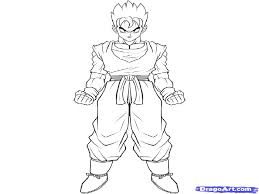 gohan coloring pages dragon ball z gohan coloring page free