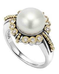 pearl and diamond engagement rings pretty pearl engagement rings martha stewart weddings