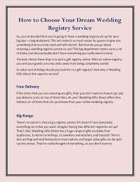 wedding registry online how to choose your wedding registry service
