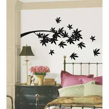 inspiring wall decals for bedroom 39 green way parc contemporary bedroom decor with simple black tree and leaves silhouette wall decals with vintage cabinet and