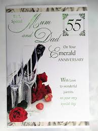 55th wedding anniversary to a special on your 55th emerald anniversary glasses