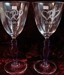 home accessories remarkable monogrammed wine glasses