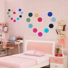 online buy wholesale round wall stickers from china round wall colorful round points wall stickers diy canvas wall sticker for kids bedroom living room wall