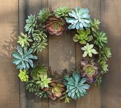 faux succulent wreath pottery barn knock faux succulents