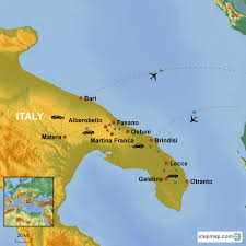Apulia Italy Map by Gems Of Puglia Country Holidays Singapore
