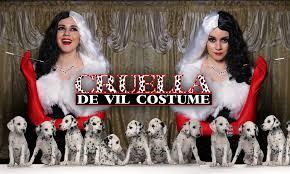 diy easy halloween costume cruella de vil lucykiins youtube