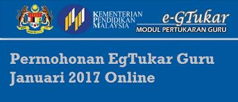 egtukar guru online semakan keputusan 2016 permohonan egtukar guru januari 2017 online mysemakan