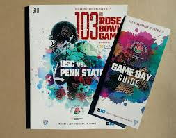 details about 2017 official rose bowl game program offcial game