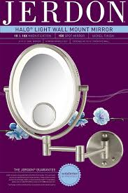 Wall Mounted Magnifying Mirror 10x Amazon Com Jerdon Hl9515n 8 Inch Lighted Wall Mount Oval Makeup